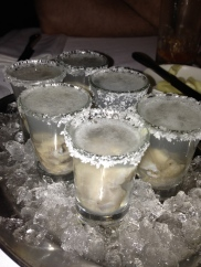 First time doing oyster shooters in Halifax... margherita oyster shooters.
