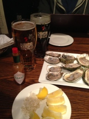 Oysters in Halifax + Keith's.