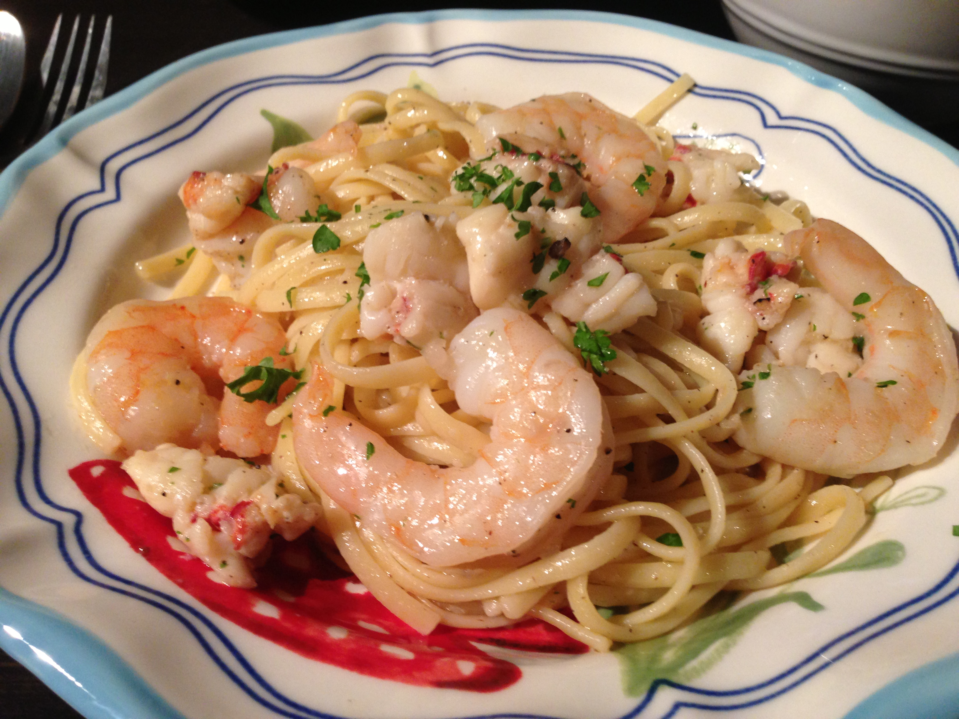 Lobster tail and pasta recipe