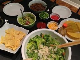 We also made Caesar salad.